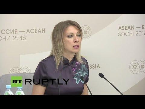 LIVE: Russian FM spokesperson Zakharova holds press briefing in Sochi