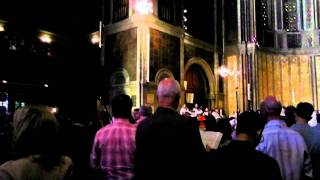 """The strife is o'er!"", St. Bartholomew's Church"