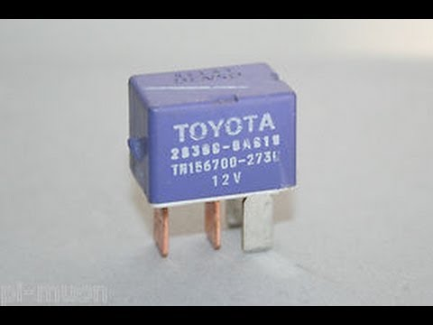 1999 Toyota Camry Starter Relay Location - YouTube