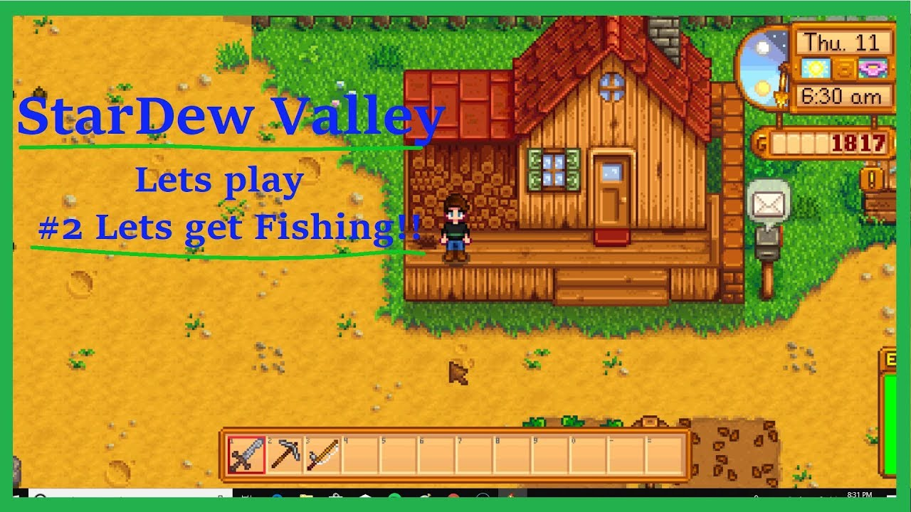 StarDew Valley Lets Play!! #2 -Lets Get Fishing-