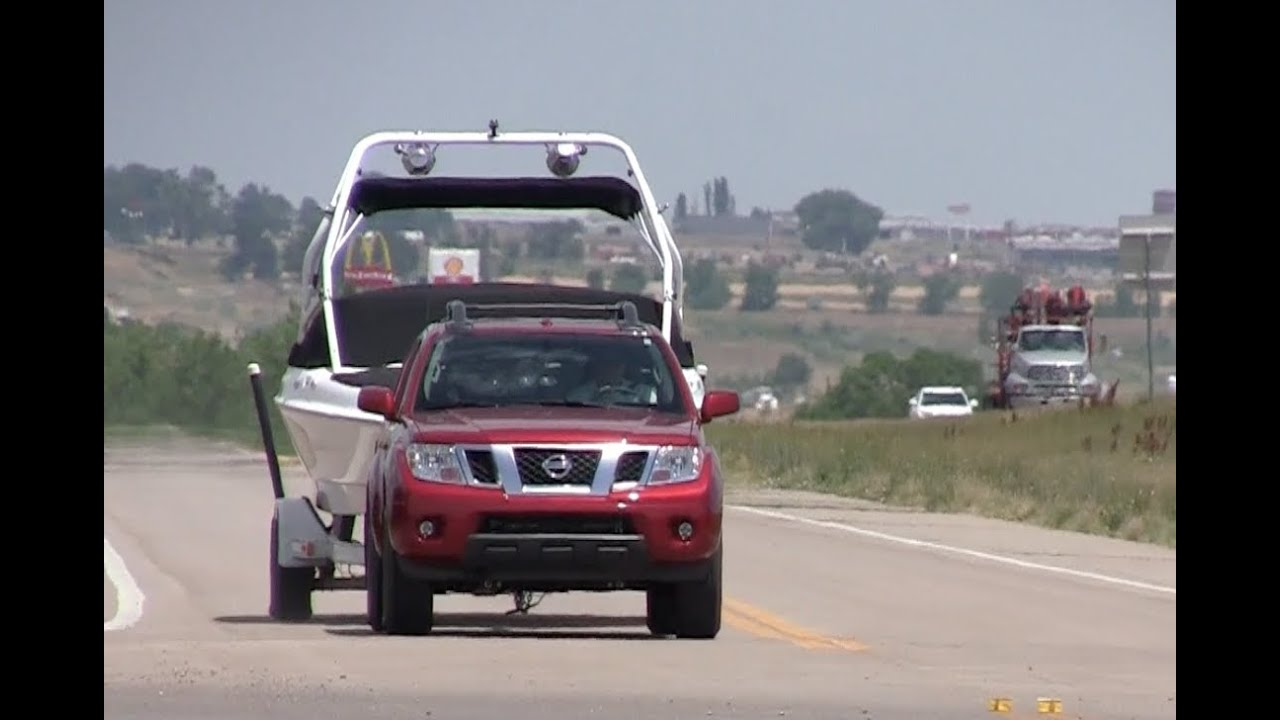 Nissan frontier pro  pickup mph towing test episode youtube also rh