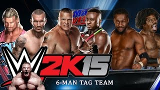 WWE 2K15: Look at My Muscles [6-Man Tag Team Match] - Xbox One Gameplay, Commentary