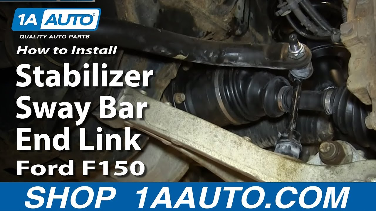 How To Replace Stabilizer Sway Bar End Link 0405 Ford F150  YouTube