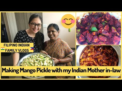MAKING MANGO PICKLE WITH MY INDIAN MOTHER IN-LAW | Filipino Indian Family Vlog # 68