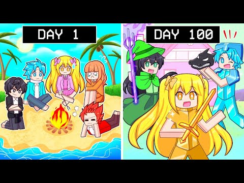 The Squads FIRST 100 DAYS On SURVIVAL ISLAND In Minecraft!