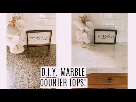 DIY MARBLE COUNTER TOPS!