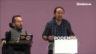 """Pablo Iglesias: """"Me siento enormemente apoyado para ser Secretario General"""""""