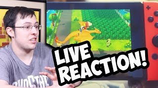 LIVE REACTION! POKEMON LETS GO PIKACHU AND LETS GO EEVEE!