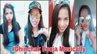 Dhinchak Pooja Musically Videos 2018 || Musically Compilation Video || You Khub Entertainment