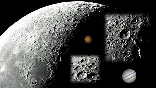 Mond, Jupiter & Mars durch mein Teleskop [22.8.2011 05:30h]