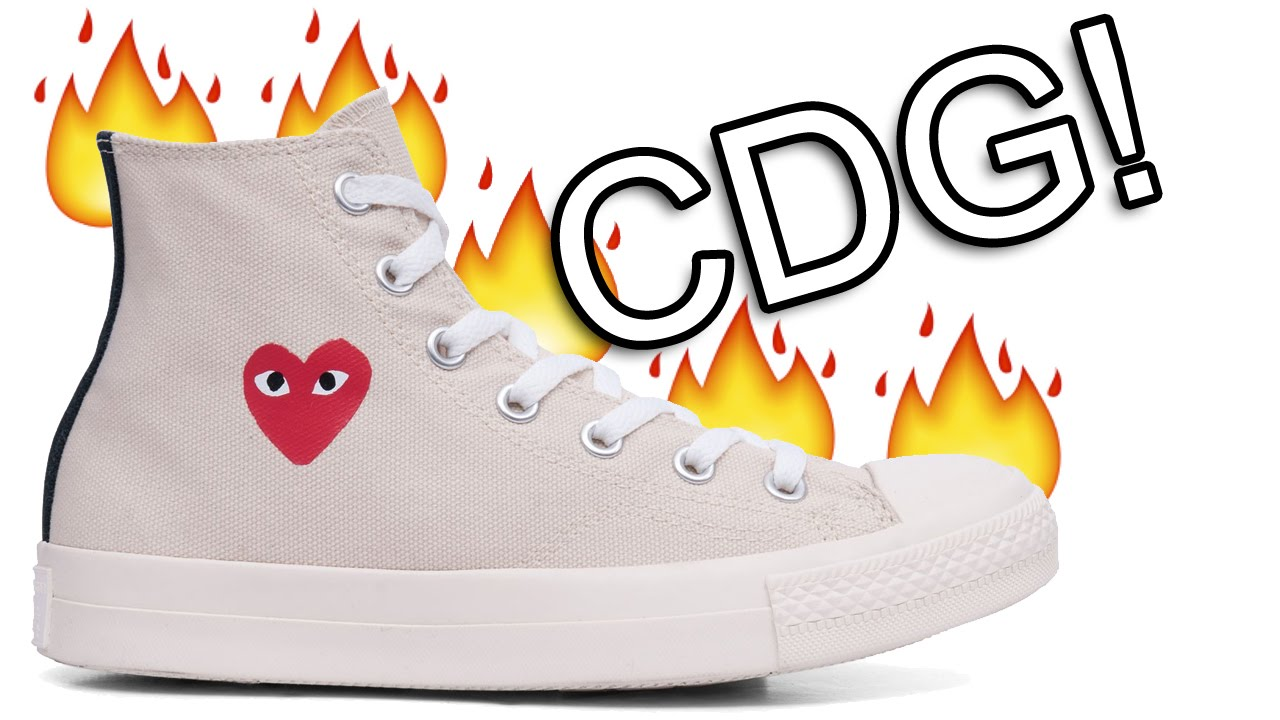 fd2206c18634a7 CDG Comme Des Garcons Play Converse DIY Tutorial - YouTube