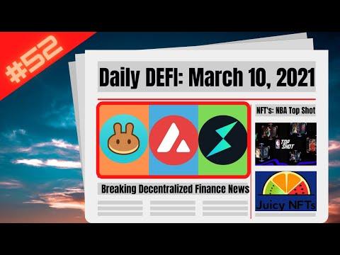 Daily Defi AVAX, CAKE, RUNE, Juicy NFT's & NBA Top Shot Madness Crypto News Rapid Fire