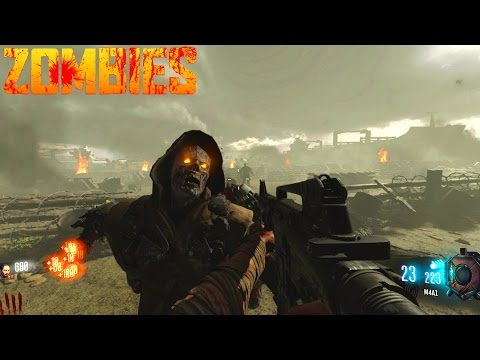 BO3 WW2 ZOMBIES! D-DAY SURVIVAL CUSTOM ZOMBIES (Call Of Duty Black Ops 3 Zombies)