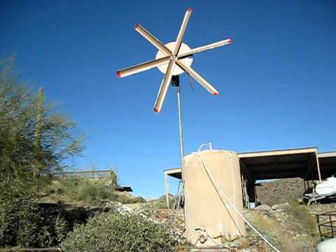Home built wind turbine powers air compressor. - YouTube