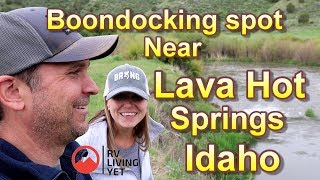 FREE CAMPING near Lava Hot Springs Idaho, Boondocking in Idaho.
