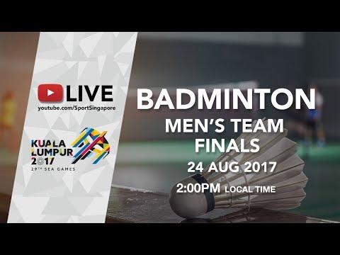 Badminton 🏸 Men's Team Finals Indonesia 🇮🇩 Vs Malaysia 🇲🇾 | 29th SEA Games 2017