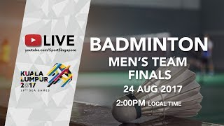Badminton 🏸 Men's Team finals Indonesia 🇮🇩 vs Malaysia 🇲🇾 | 29th SEA Games 2017