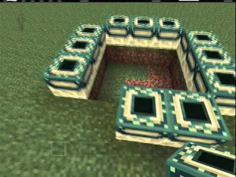How to make an end portal in minecraft xbox 360 edition youtube