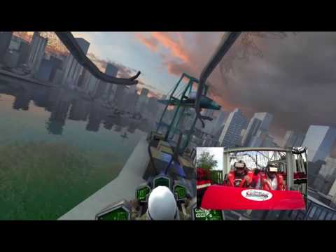 Virtual Reality turns roller coaster into a video game