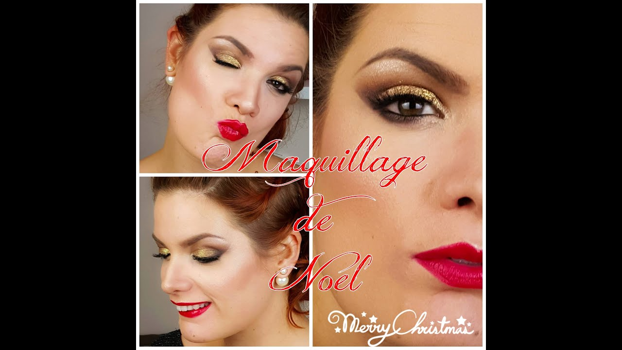 Fabuleux Tuto maquillage yeux n°39 ] Maquillage de Noel 2015 Smoky Doré  IG68