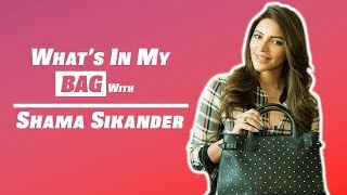 What Is In My Bag Featuring Shama Sikander | Exclusive Interview | POP Diaries