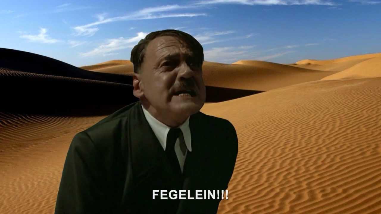 Hitler is informed he's in a desert