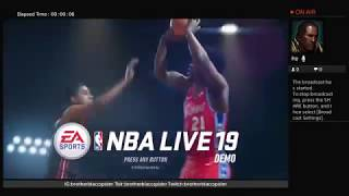 What I'm playing now...NBA LIVE 19 demo....
