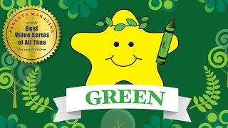 COLORS: GREEN Verde Vert ★ English French Spanish ★ Best Early Learning Videos & Songs for Kids