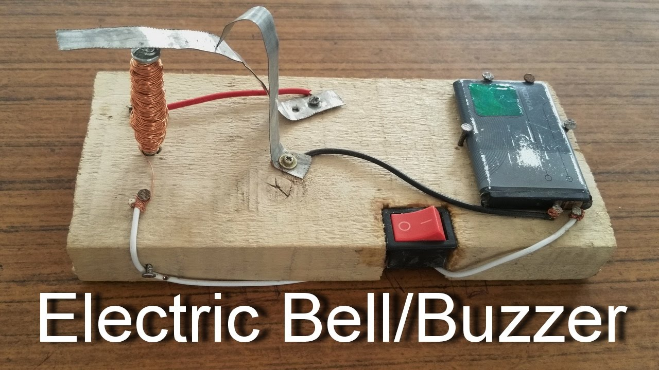 How To Make An Electric Bell/Buzzer At Home | Science ...