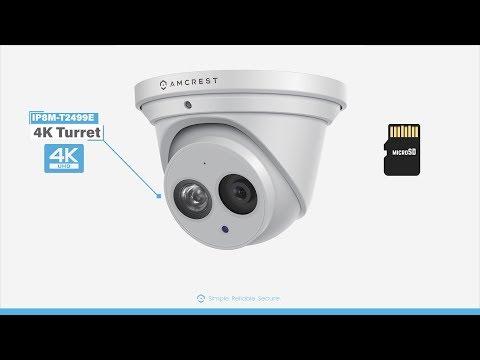 Amcrest IP8M-T2499E 4K Turret Camera Micro SD Card Installation