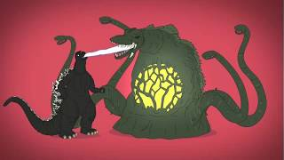 Эволюция Годзиллы в кино Анимация