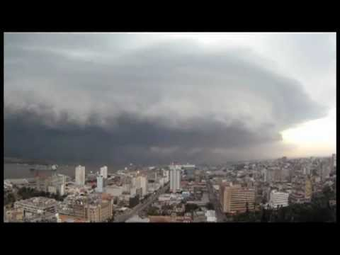 Storm and Amazing Looking Clouds Over Mozambique Time lapse