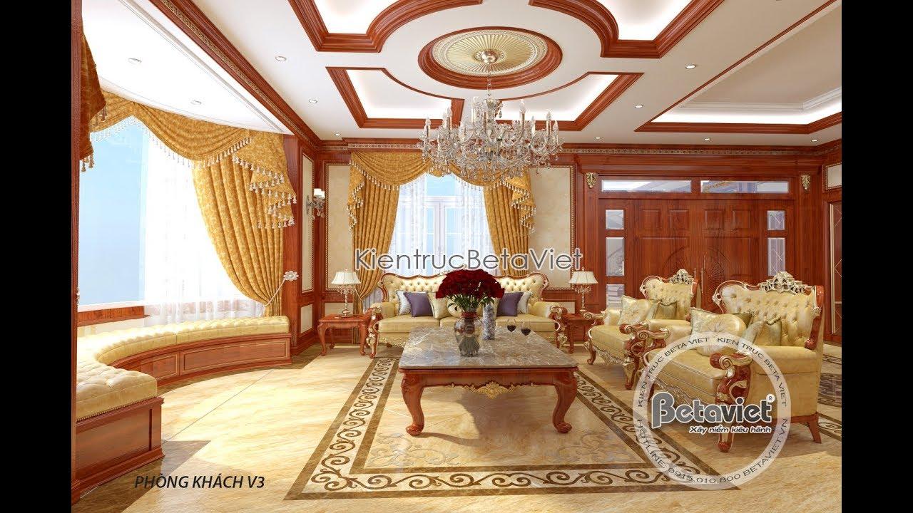 Nội thất biệt thự hoàng gia Pháp đẹp cao sang quyền quý tại Sài Gòn NT17094