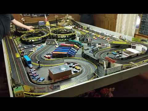 H.O  slot car Tyco AFX formula 1 race Dewin it Speedway Bellville Ohio
