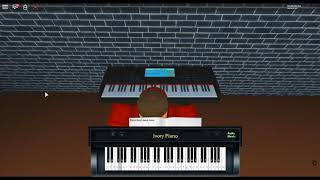 Axel-F - Beverly Hills Cop by: Harold Faltermeyer on a ROBLOX piano. [Revamped]