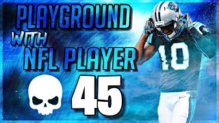 DBoy Plays PlayGround W/ NFL PLAYER & TRASH TALKING BOTS!! (Fortnite - Battle Royale)