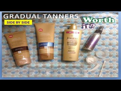 Gradual Tan side by side review