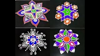 7 Different rangoli part 1 || june rangoli collection || easy kolam designs || muggulu rangoli