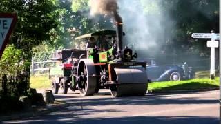 Steam roller -v- car near miss!