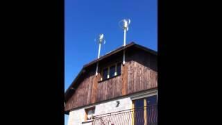 Вертикальный ветрогенератор на крыше дома.(Вертикальный ветрогенератор на крыше дома. http://manblan.ru., 2013-04-09T16:22:09.000Z)