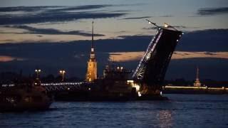 Развод мостов в Санкт-Петербурге(Белые ночи, развод мостов на Неве и ночная жизнь в Санкт-Петербурге., 2016-07-09T09:12:09.000Z)