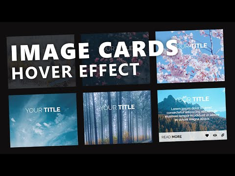 Responsive Image Cards With Hover Effect - Only Using CSS & HTML