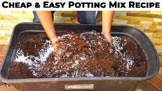 Potting mix vs Potting soil - EZ & Cheap DIY Potting Mix Recipe
