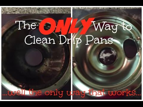 The BEST Way to Clean Drip Pans!