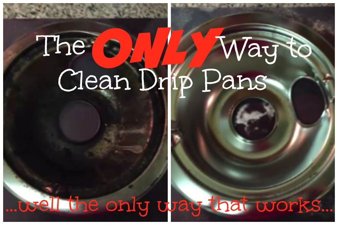The BEST Way to Clean Drip Pans  YouTube