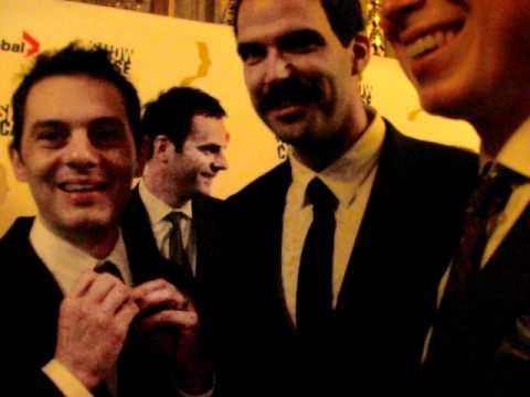 The cast of Dan for Mayor at the 2010 Gemini Awards