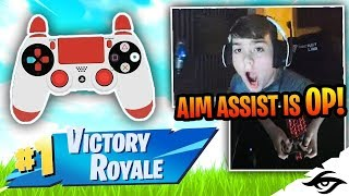 Mongraal | AIM ASSIST IS CHEATING? (Fortnite Battle Royale Controller Win!)