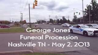 George Jones Funeral Procession on May 2, 2013 in Nashville Tennessee