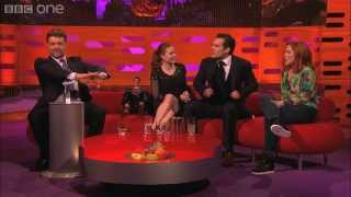 Russell Crowe controls the red chair - The Graham Norton Show - Series 13 Episode 11 - BBC One