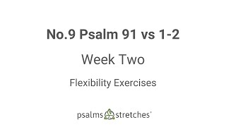 No.9 Psalm 91 vs 1-2 Week 2